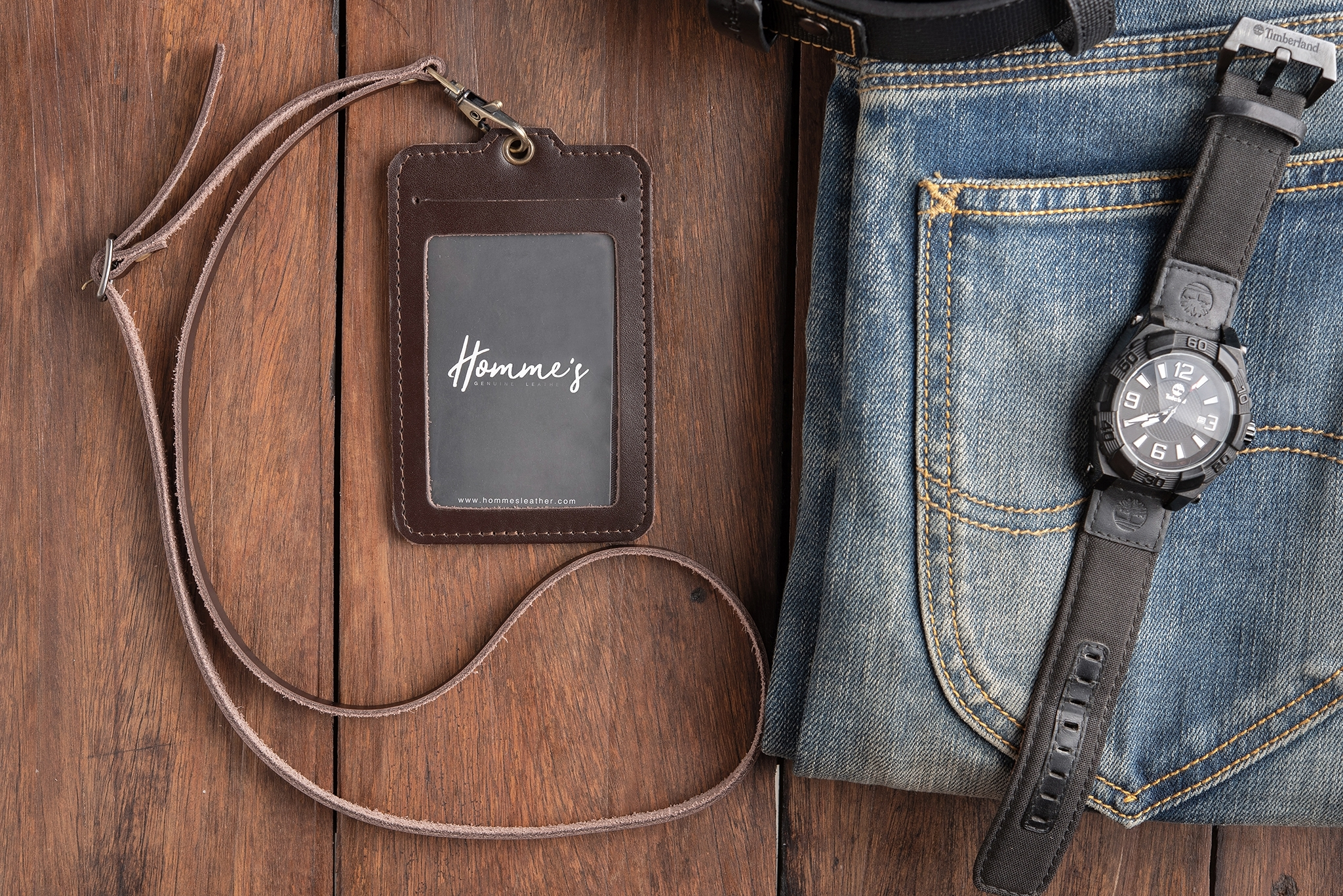 Homme's card strap- Brown