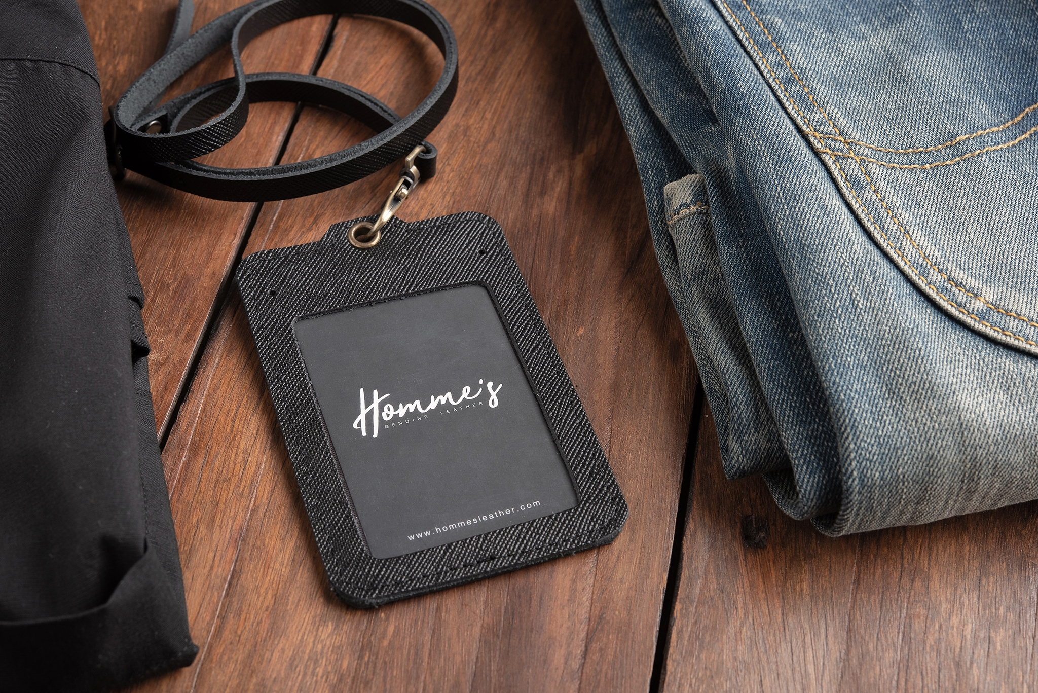 Homme's card strap- Black