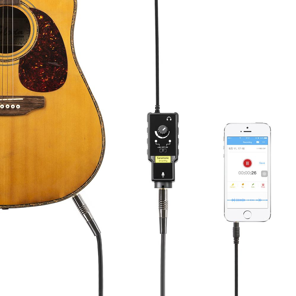 สมาร์ทริก 2 ตัว อะแดปเตอร์ เสียงด้วย iPhone Saramonic SmartRig II Audio Adapter