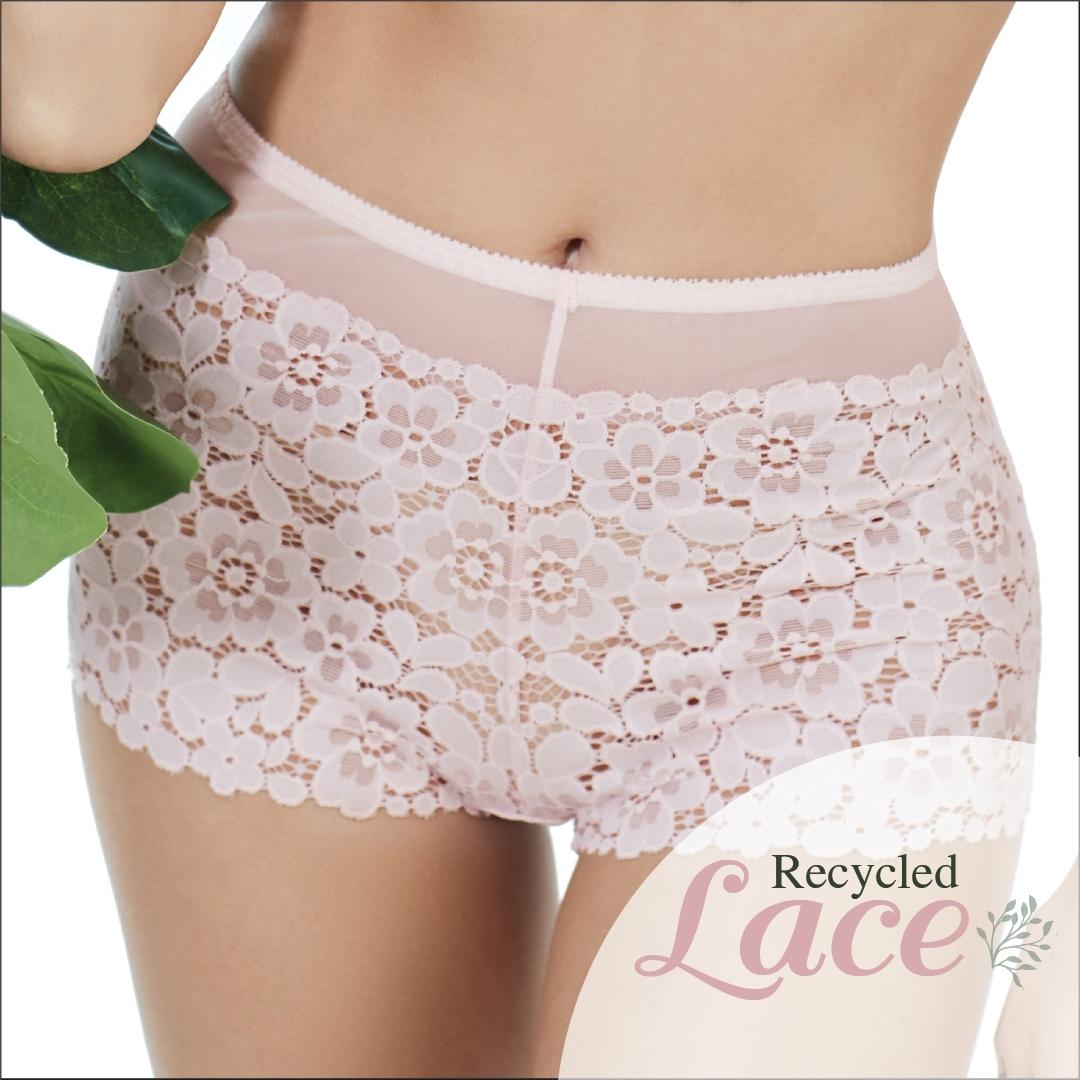 กางเกงในลูกไม้ Recycled Lace สีชมพู รหัส BSLY27