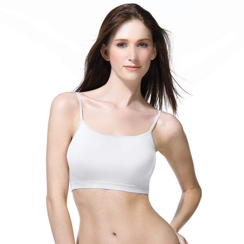 เสื้อสายเดี่ยวตัวสั้น Cherilon Intimate รหัส BSSL03 สีขาว