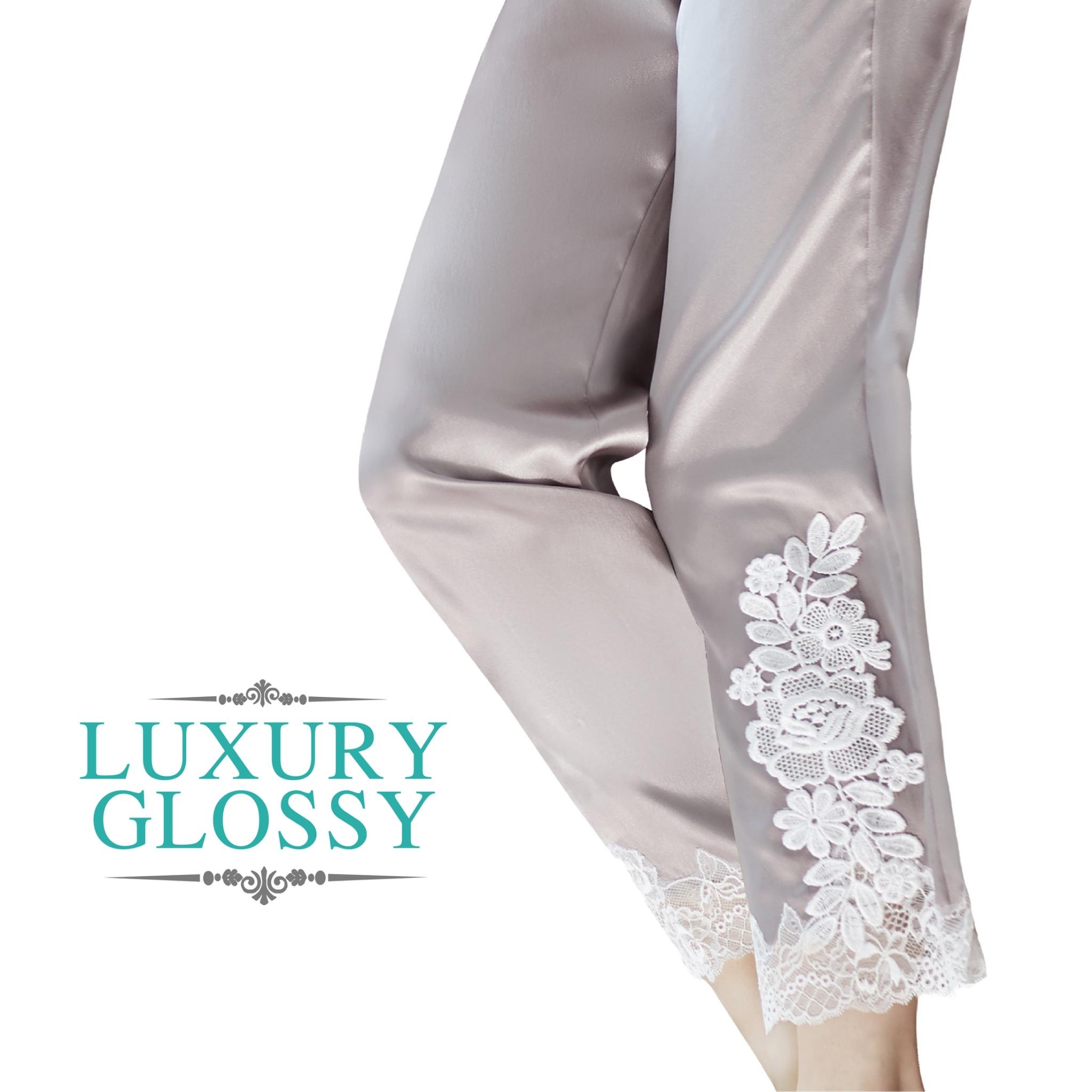 LUXURY LACE กางเกงขายาว สีชมพูนู้ด (โอวันติน) รหัส FHLUX3