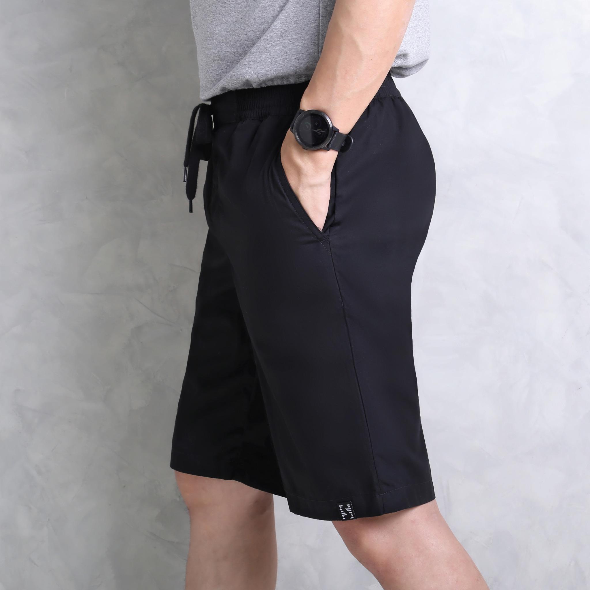 กางเกงขาสั้น Cotton Woven สีดำ รหัส SCTK3