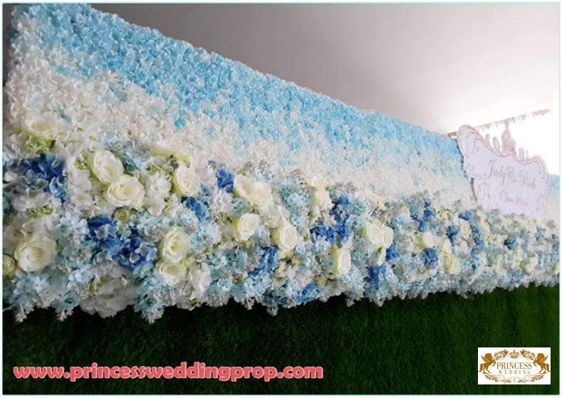 Backdrop ดอกไม้ Blue