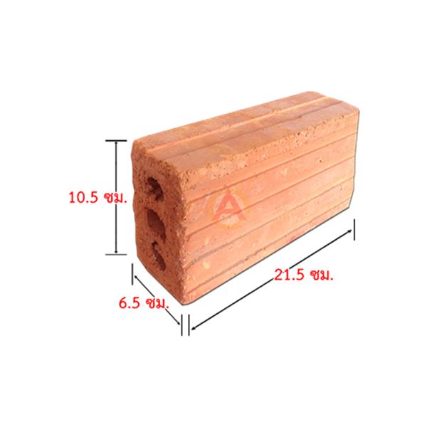 108S อิฐแดง 3 รู ขนาด 6.5X10.5X21.5 ซม.