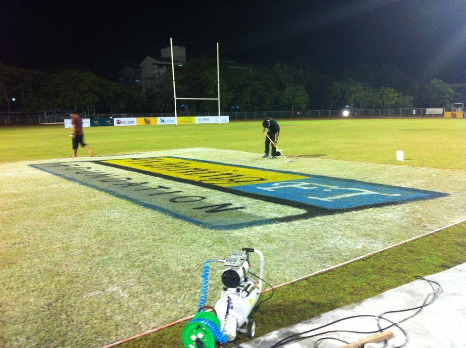 Rugby Football Field Painting