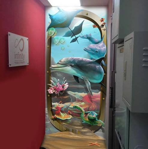 3D Digital Painting for Wall Graphic