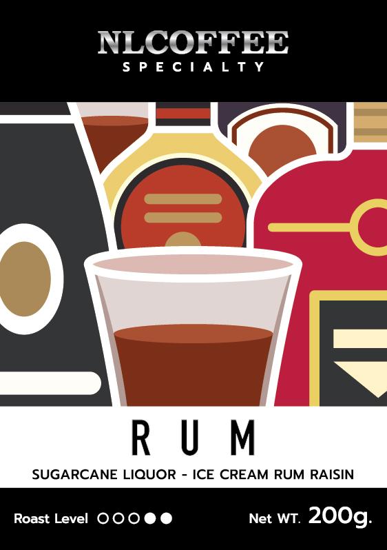 RUM - เมล็ดกาแฟคั่ว