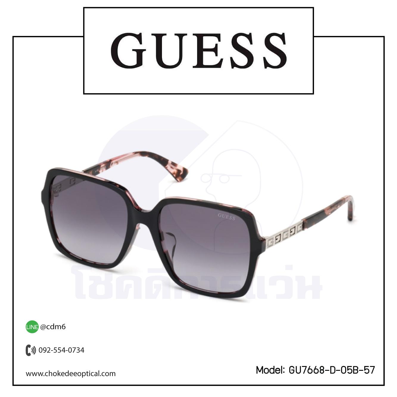แว่นกันแดด Guess GU7668-D-05B-57