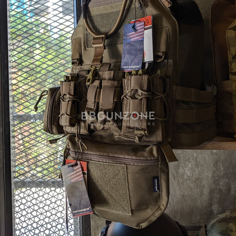 EmersonGear Blue Lable กระเป๋าจิงโจ้ Armor Carrier Drop Pouch For AVS JPC CPC EMB9283