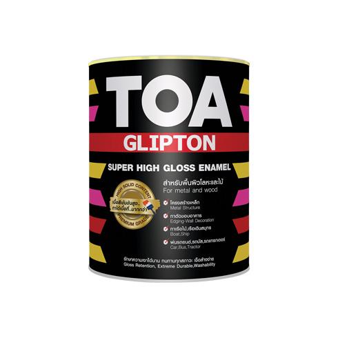 ทีโอเอ กลิปตั้น สีน้ำมันเคลือบเงา โทร 080-0689-888 ราคาถูก TOA GLIPTON Super High Gloss Enamel