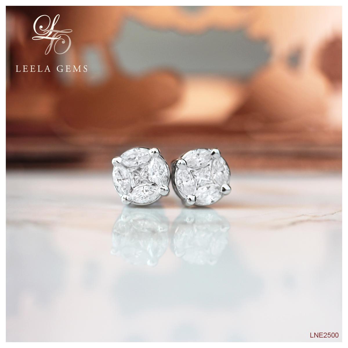 Illusion Diamond Earrings