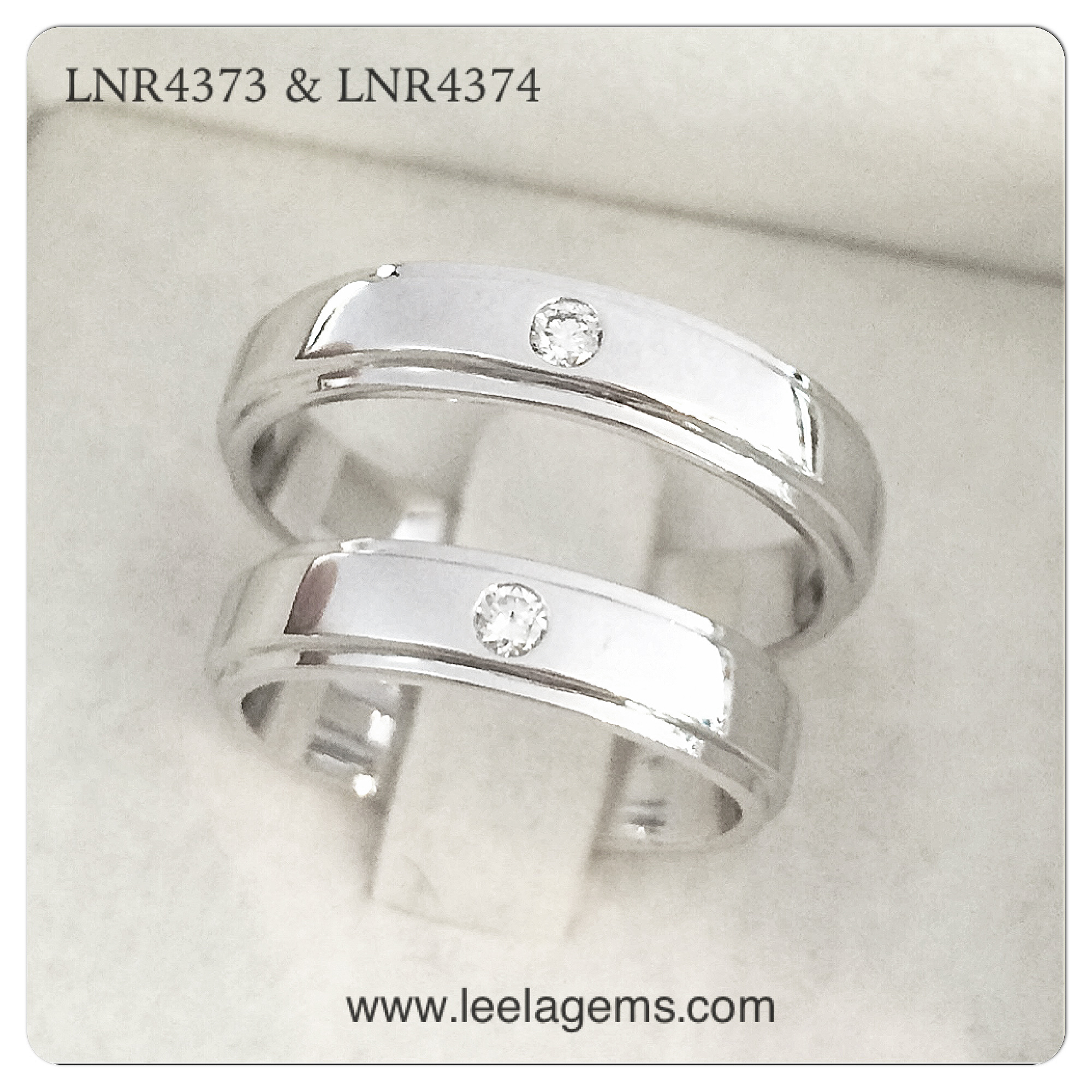 Couple Rings in 18K White Gold