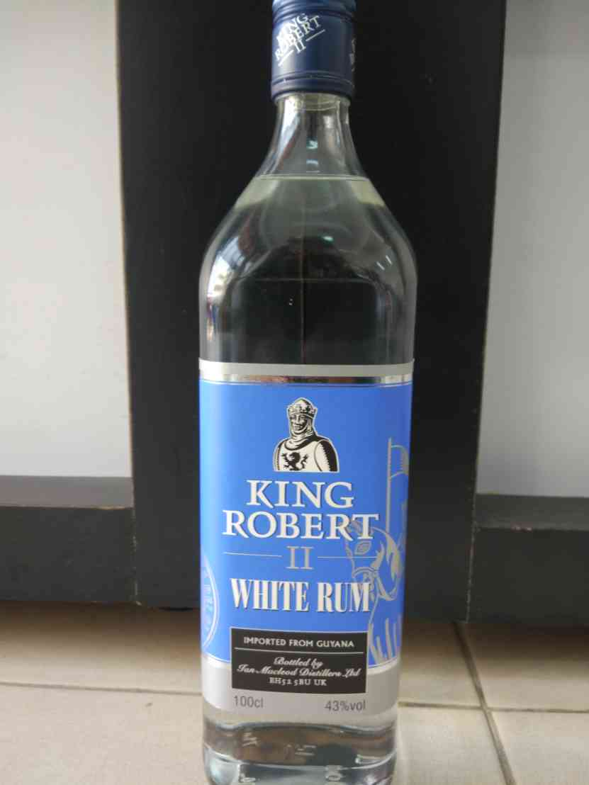 King Robert II White Rum  1L (43%)