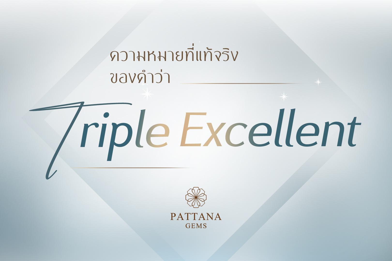 ความหมายที่แท้จริงของ Triple Excellent