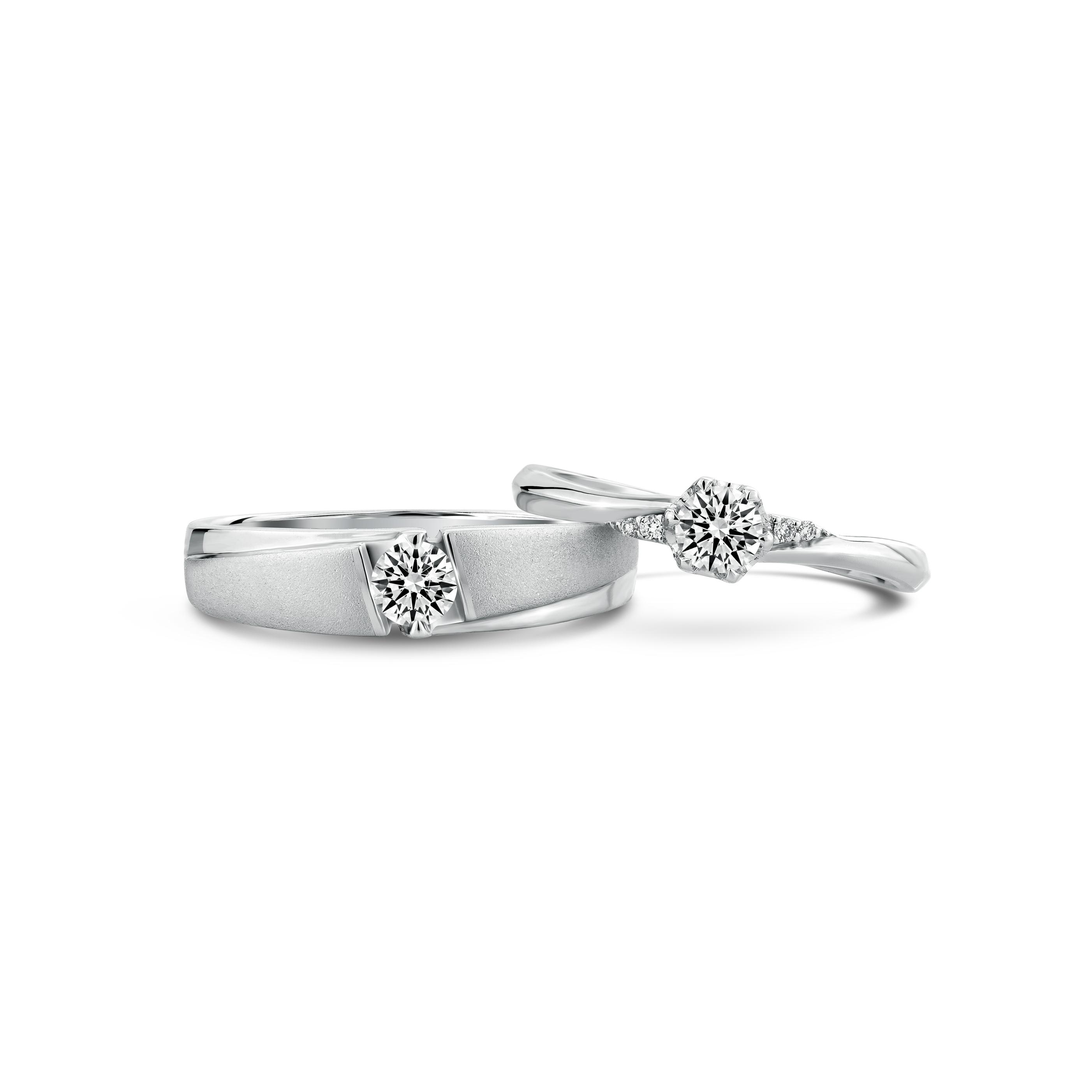 แหวนเพชรคู่ A8367 & A8118
