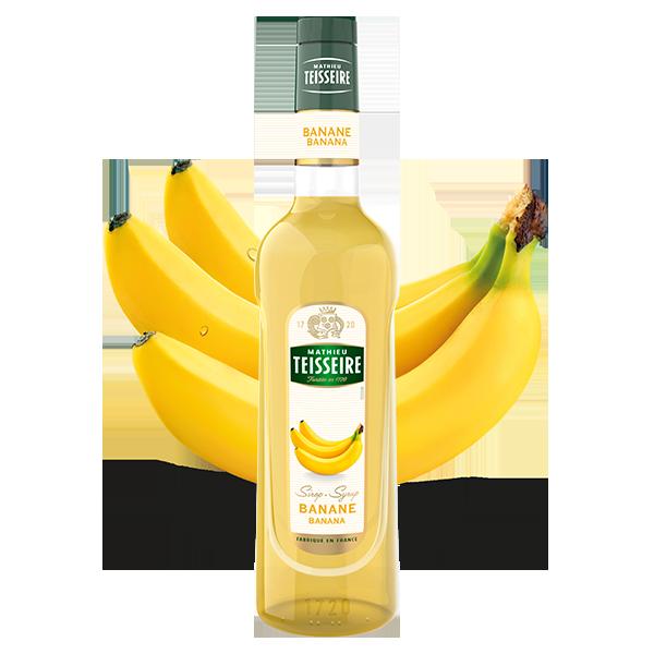 Mathieu Teisseire Banana syrup 70 cl / ไซรัป แมททิวเตสแซร์ กลิ่นกล้วยหอม