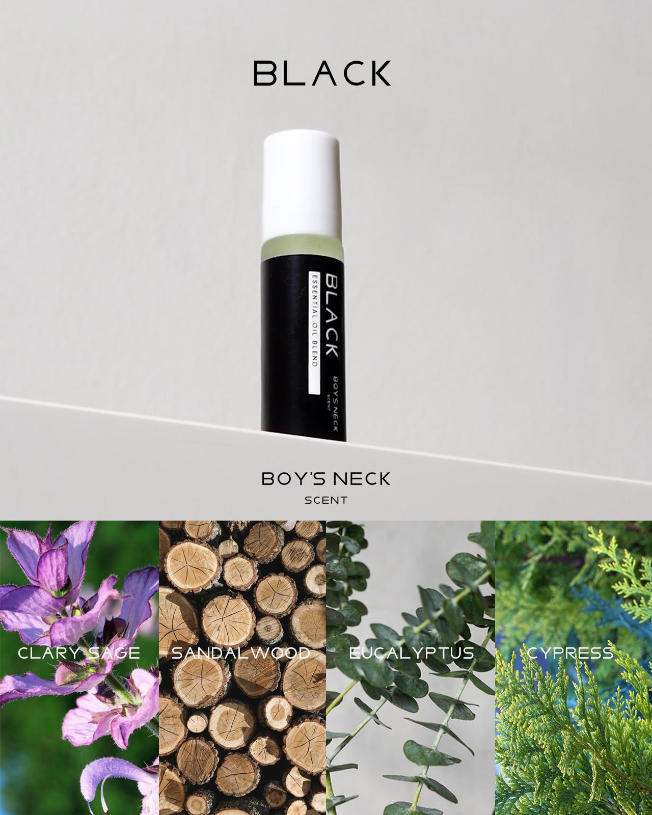 BLACK - Aroma Oil Roller 10 ml.
