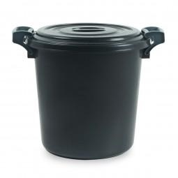 ถังน้ำพลาสติกพร้อมฝา B 60 ลิตร สีดำ
