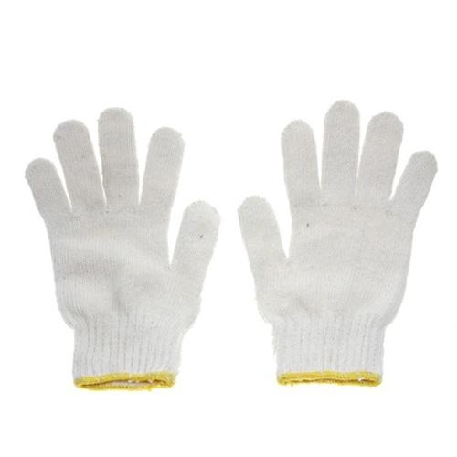 ถุงมือผ้าทอ 700 กรัม ขอบเหลือง
