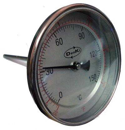 เครื่องวัดอุณหภูมิแบบเข็ม ยี่ห้อ Denki รุ่น DK-150-4-6 (DK-T-4x6-1/2PT)
