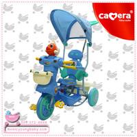 คลิปเสียงดนตรี รถสามล้อเด็ก W-588 Camera Baby Tricycle