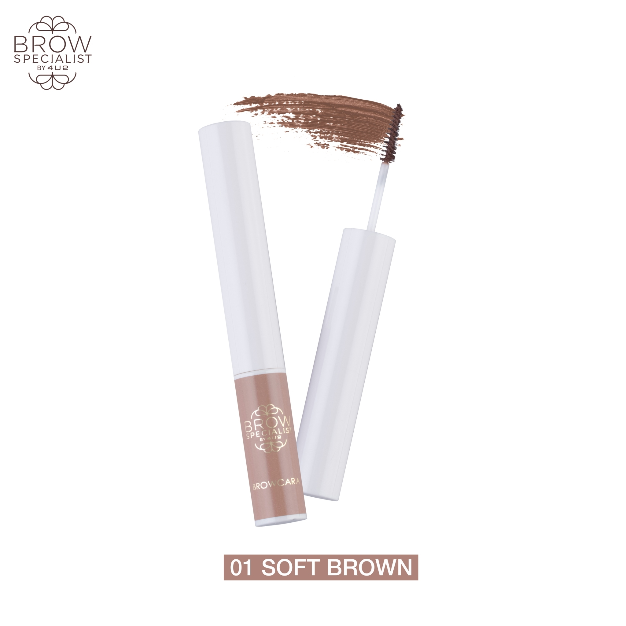 4U2 BROW SPECIALIST BROWCARA #01 SOFT BROWN
