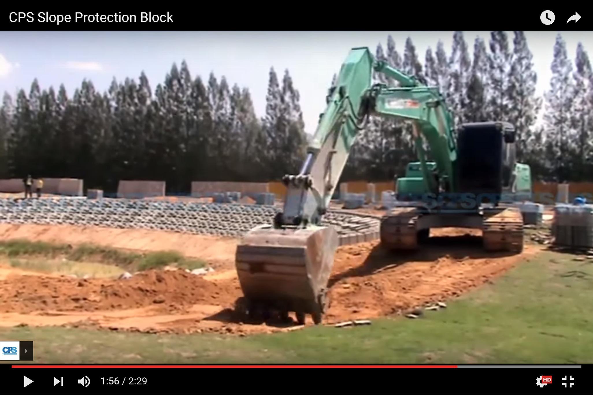 CPS Slope Protection Block Installation