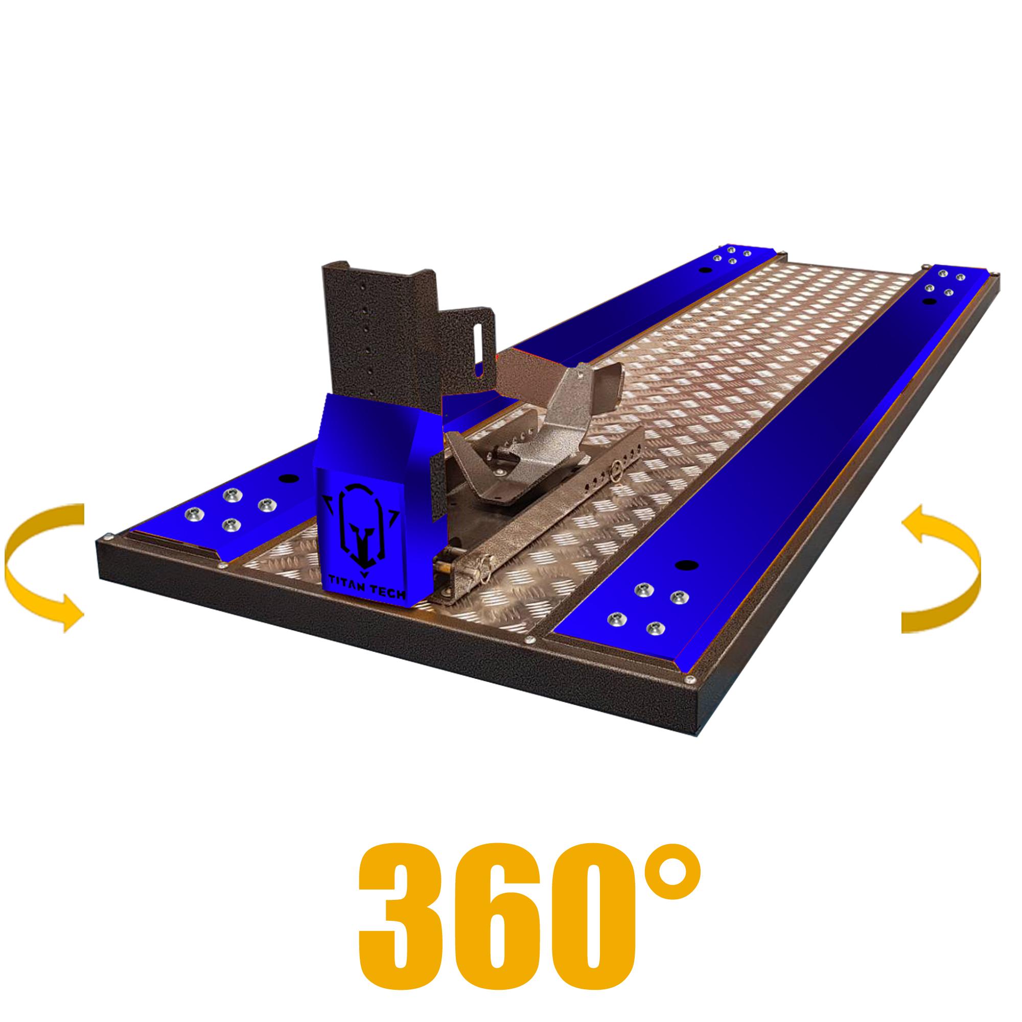 Titan Tech แพลตฟอร์ม มอเตอร์ไซค์บิ๊กไบค์ 360° (สีน้ำเงิน)