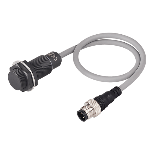 The PRFAW series Full-Metal Cylindrical Spatter-Resistant Inductive Proximity Sensors (Cable Connector Type)