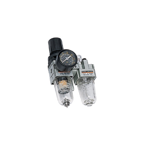 "AC2010 Series ชุดกรองลม 2ตอน(filter+regulator)+lubricator เกลียว1/8""และ1/4"""