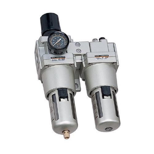 "AC5010 Series ชุดกรองลม 2ตอน(filter+regulator)+lubricator เกลียว 3/4""และ1"""