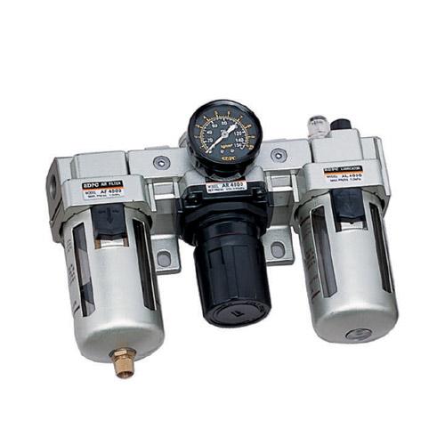 "AC4000 Series ชุดกรองลม 3ตอน filter+regulator+lubricator เกลียว3/8""และ1/2"""