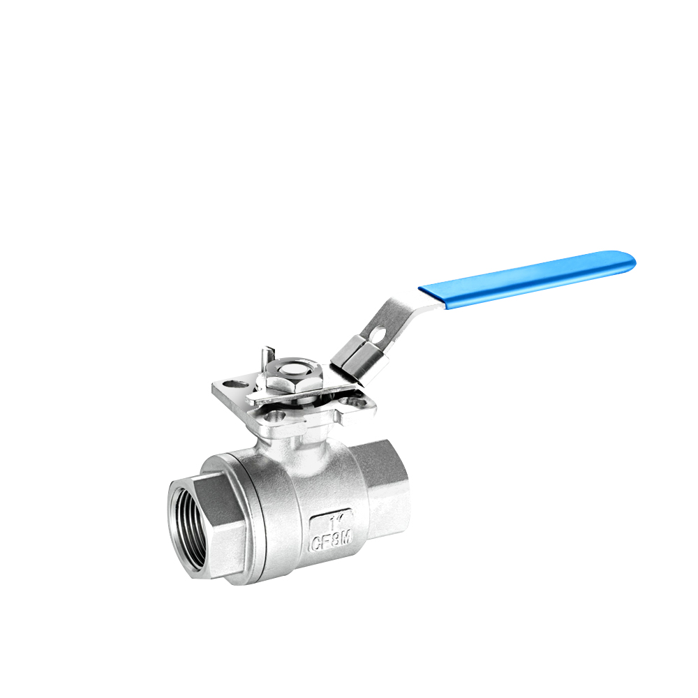 BALL VALVE 2PC  iso 5211 direct mounting pad stainless steel 316