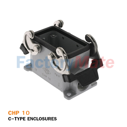 ILME CHP-10 C-Type Surface Mount Housing, Size 57.27, Double Lever, PG 16