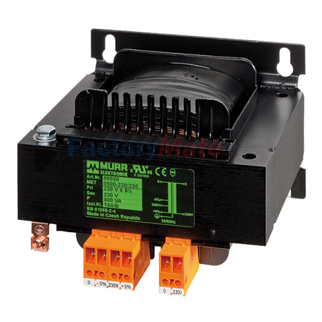 MET 1-PHASE CONTROL AND ISOLATION TRANSFORMER P: 500-1000VA IN: 240-415VAC OUT: 110-110-20VAC