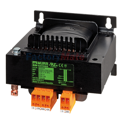 MET SINGLE-PHASE CONTROL AND ISOLATION TRANSFORMER P:1500VA IN:400VAC±5% OUT:110VAC
