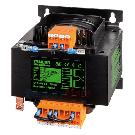 MST 1-PHASE SAFETY TRANSFORMER P: 320VA IN: 230/400VAC +/- 15VAC OUT: 24VAC