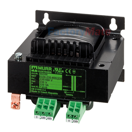MTS Single-phase control and isolation transformer P:400VA IN:230-400±15VAC OUT:230VAC