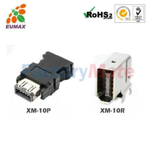 XM-10P 36210-0100PL Plug Kit 10P EUMAX IEEE 1394 Connector