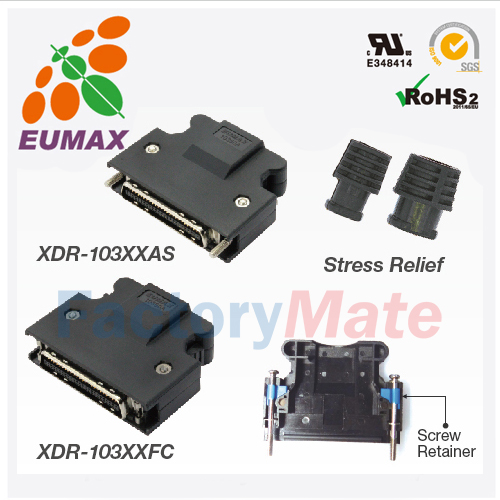 XDR-103XXAS Plug Kit 14P-50P Screw EUMAX MDR Connector