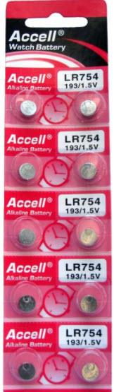 แบตเตอรี่เม็ดกระดุม Accell LR754