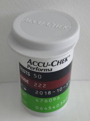 แผ่นตรวจน้ำตาล Accuchek Performa 50 แผ่น (exp 12-2021)