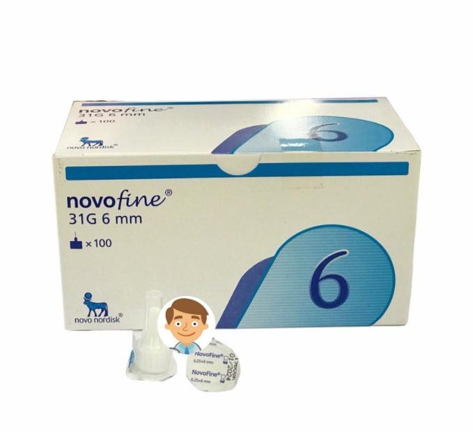 เข็ม NovoFine 31Gx6mm (กล่องฟ้า) (ยกกล่อง)