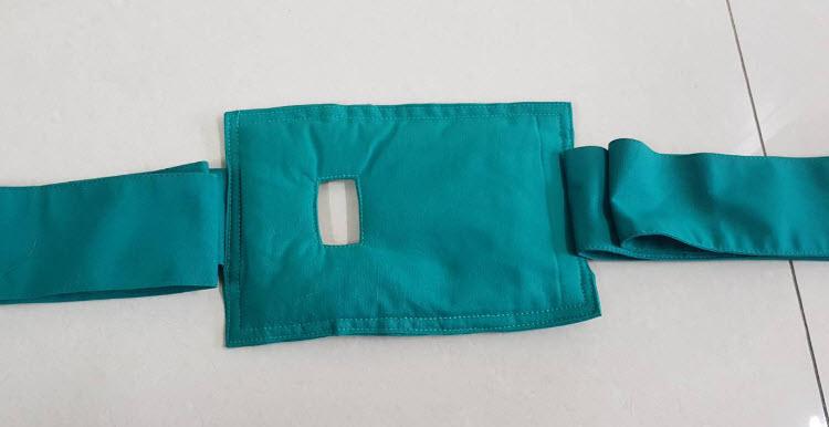 ผ้าเขียวมัดตรึงผู้ป่วย บุฟองน้ำนิ่ม (ราคา/1ข้าง)