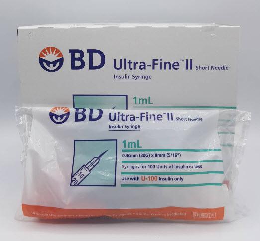 Insulin BD Syringe เข็มฉีดอินซูลิน 30G x 8mm (0.5 และ 1 mL)