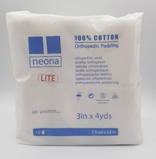 สำลีรองเฝือก Neona Lite 4นิ้ว x 4หลา (12ม้วน/แพ็ค)