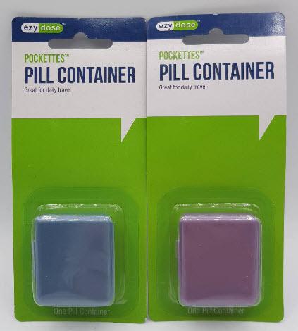ตลับยา พกใส่กระเป๋า Pockettes Pill Box (คละสี)
