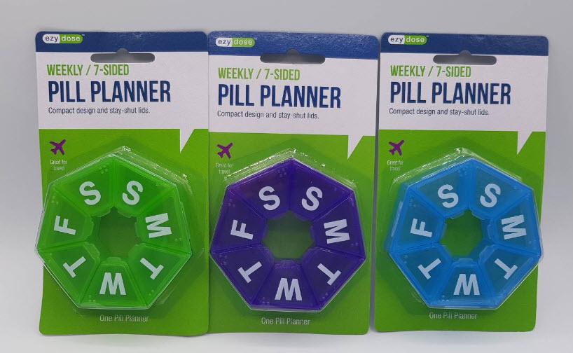 ตลับยา 7-Sided Pill Reminder (คละสี)