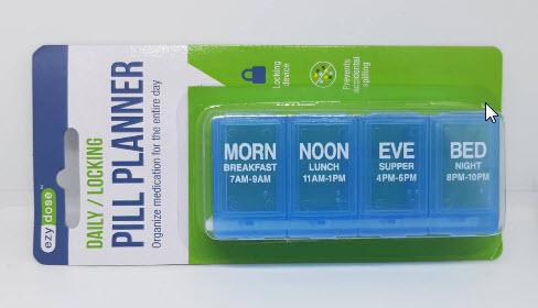 ตลับยา Four-A-Day Locking Pill Reminder (100530535)